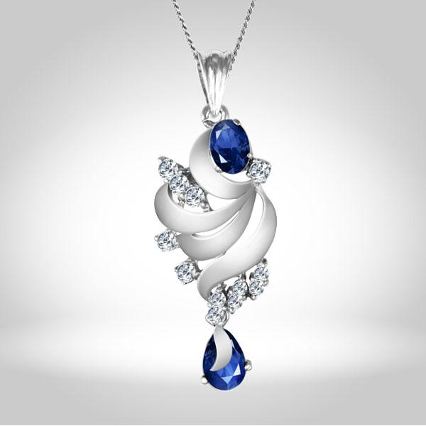 Blue Sapphire-Locket Set